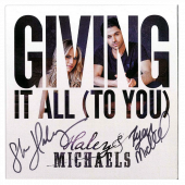 Haley & Michaels AUTOGRAPHED  EP- Giving It All (To You)