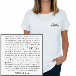Haley & Michaels Unisex White Giving It All To You Tee